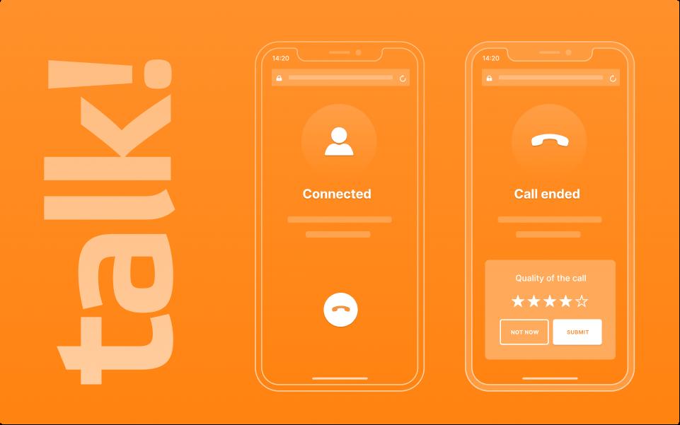 Talk, click to call