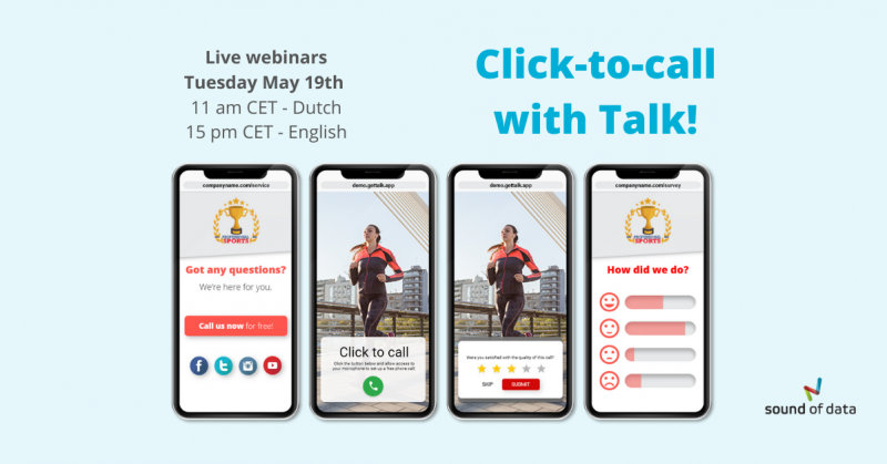 Webinar click-to-call with Talk May 2020