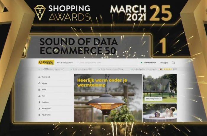 Toppy winnaar Sound of Data Ecommerce50 2021