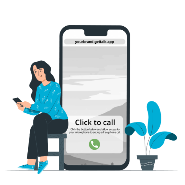 Talk click-to-call click-to-dial solution